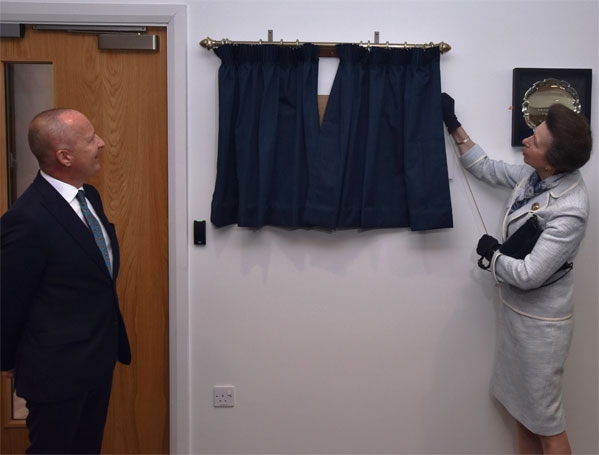 The Princess Royal unveils the plaque